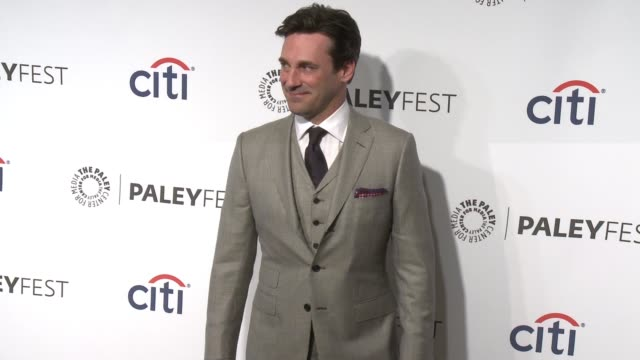jon hamm at the mad men panel paleyfest 2014 at dolby theatre on march 21 2014 in hollywood california - the dolby theatre stock videos & royalty-free footage