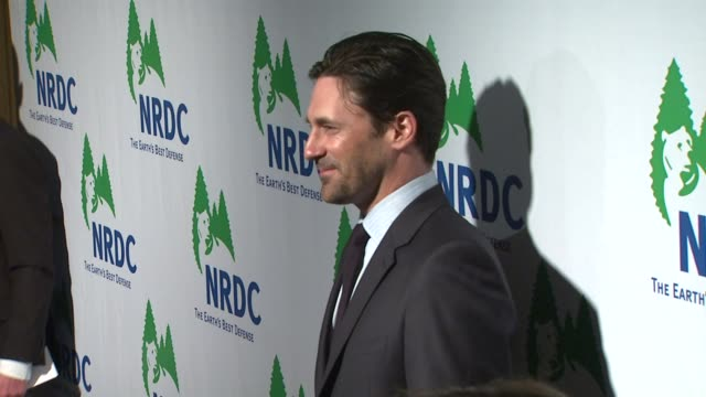 jon hamm at the national resources defense council's 20th anniversary celebration at beverly hills ca - national resources defense council stock videos & royalty-free footage