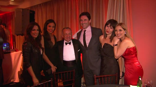 Jon Hamm Daya Fernandez Hollywood Domino Founder at 5th Annual Hollywood Domino Gala Presented By Bovet 1822 Benefitting Artists For Peace And...