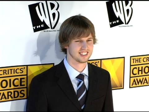 jon heder at the 2005 critics' choice awards at the wiltern theater in los angeles california on january 10 2005 - wiltern theatre stock videos and b-roll footage