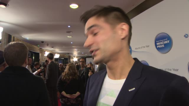 jon hopkins on being nominated, what the award means to him, who he would like to win at mercury music prize at the roundhouse on october 30, 2013 in... - mercury music prize stock-videos und b-roll-filmmaterial
