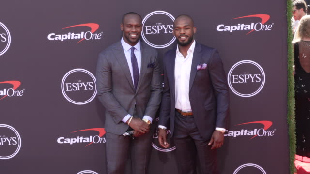 Jon Jones and Chandler Jones at The 2019 ESPYS at Microsoft Theater on July 10 2019 in Los Angeles California