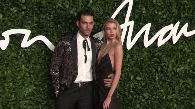 jon kortajarena and stella maxwell on the red carpet for the british fashion awards 2019 held at the royal albert hall in london london, uk, on... - fashion designer stock videos & royalty-free footage