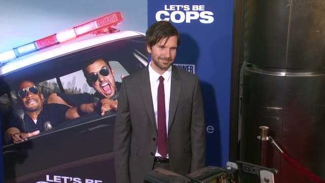 jon lajoie at let's be cops los angeles premiere at arclight cinemas cinerama dome on august 07 2014 in hollywood california - cinerama dome hollywood stock videos & royalty-free footage
