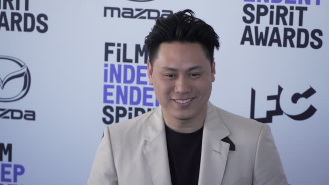 jon m chu at the 2020 film independent spirit awards on february 08 2020 in santa monica california - film independent spirit awards stock videos & royalty-free footage
