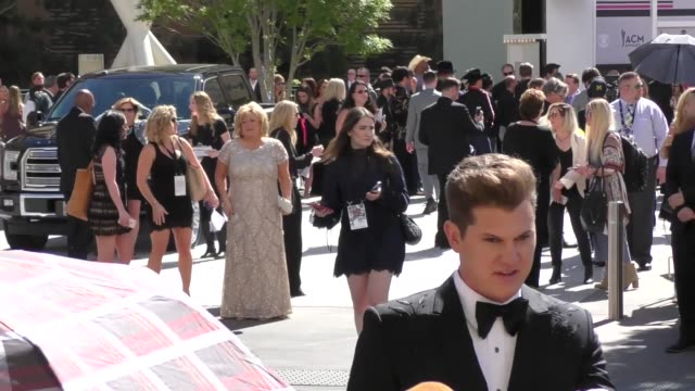 jon pardi arriving to the 52nd academy of country music awards in celebrity sightings in las vegas - academy of country music awards stock videos & royalty-free footage