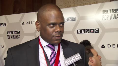 jon platt talks about being honored and songwriter compensation at sesac 2015 pop music awards at new york public library on may 04, 2015 in new york... - songwriter stock videos & royalty-free footage