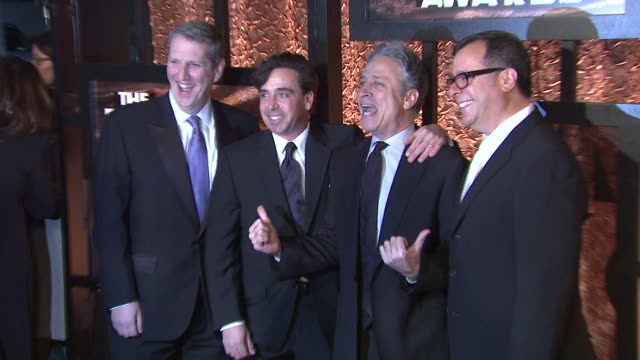 Jon Stewart and guests at the The First Annual Comedy Awards Arrivals at New York NY