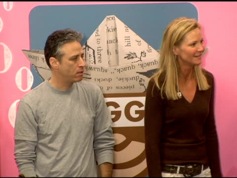 jon stewart joan allen and atmosphere at the new national literacy campaign 'get ready to read' introduced by 'noggin' at barnes noble columbus... - joan allen stock videos and b-roll footage