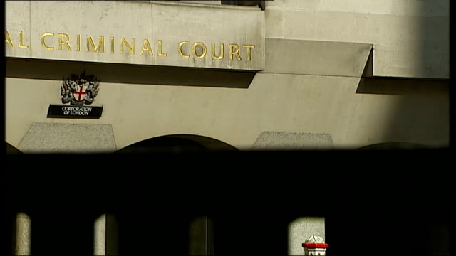jon venables charged with downloading and distributing child pornography england london old bailey ext low angle shot of scales of justice statue... - scales of justice stock videos and b-roll footage