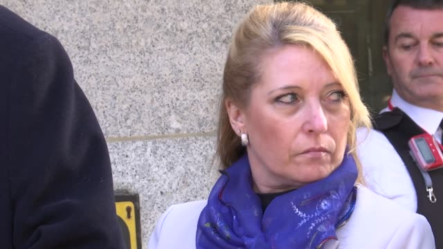 Jon Venables pleads guilty to downloading child abuse images ENGLAND London Old Bailey EXT Denise Fergus outside court