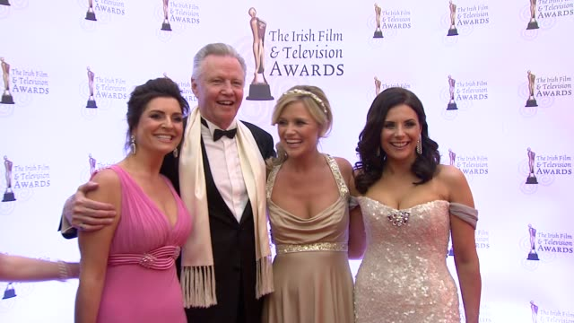 jon voight and guests at the irish film television awards at dublin - television awards stock videos & royalty-free footage