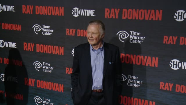 """jon voight at showtime and time warner cable celebrate season two of """"ray donovan"""" in los angeles, ca 7/9/14 - showtime video stock e b–roll"""