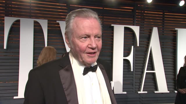 interview jon voight at the 2015 vanity fair oscar party hosted by graydon carter at wallis annenberg center for the performing arts on february 22... - wallis annenberg center for the performing arts stock videos and b-roll footage
