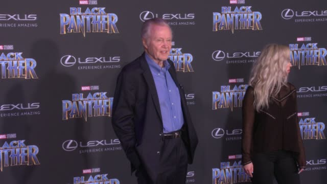 Jon Voight at the Marvel Studios' 'Black Panther' World Premiere at Dolby Theatre on January 29 2018 in Hollywood California