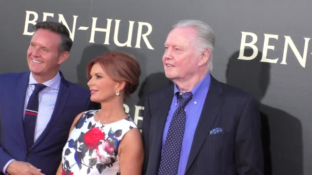 jon voight at the premiere of paramount pictures' benhur at tcl chinese theatre in celebrity sightings in los angeles - paramount pictures stock videos and b-roll footage
