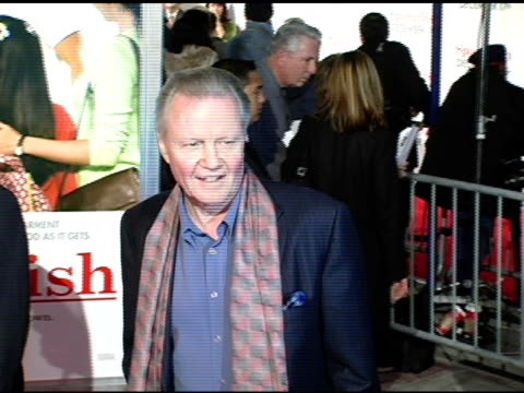 jon voight at the 'spanglish' premiere at the mann village theatre in westwood california on december 9 2004 - spanglish stock videos and b-roll footage
