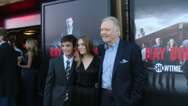 """jon voight, devon bagby at showtime and time warner cable celebrate season two of """"ray donovan"""" in los angeles, ca 7/9/14 - showtime video stock e b–roll"""