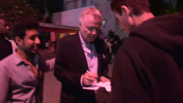 jon voight greets fans at 2013 emmy eve soiree at sunset tower at celebrity sightings in los angeles on september 21 2013 in los angeles ca - pre emmy party stock videos & royalty-free footage