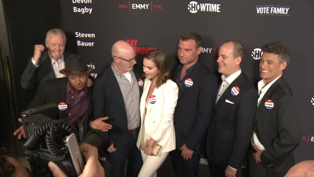 jon voight pooch hall david hollander kerris dorsey liev schreiber david nevins and steven bauer at for your consideration screening and panel for... - showtime video stock e b–roll
