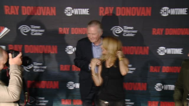 """jon voight, rosanna arquette at showtime and time warner cable celebrate season two of """"ray donovan"""" in los angeles, ca 7/9/14 - showtime video stock e b–roll"""