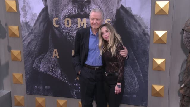 jon voight, skyler shaye at the 'king arthur: legend of the sword' premiere at tcl chinese theatre on may 08, 2017 in hollywood, california. - skyler shaye stock videos & royalty-free footage