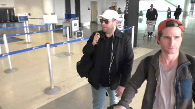 Jonah Hill arriving at LAX Airport in Los Angeles in Celebrity Sightings in Los Angeles