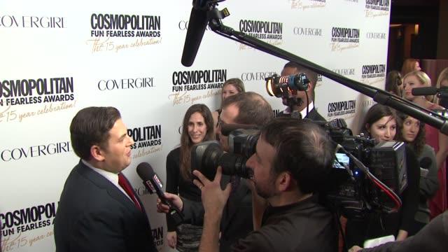 Jonah Hill at Cosmopolitan Magazine's Fun Fearless Awards 2012 on in New York