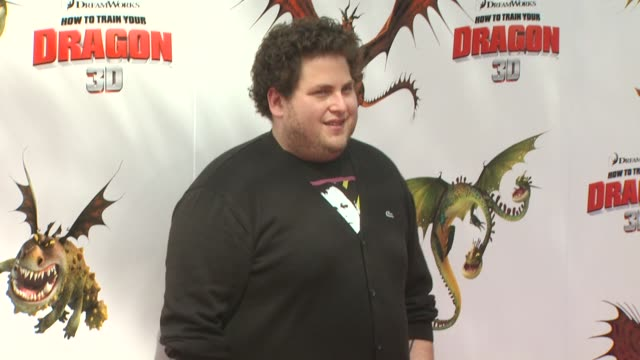 jonah hill at the 'how to train your dragon' premiere at universal city ca - how to train your dragon stock videos & royalty-free footage