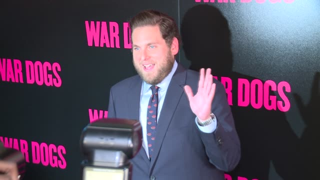 Jonah Hill at 'War Dogs' New York Premiere Arrivals at Metrograph on August 3 2016 in New York City