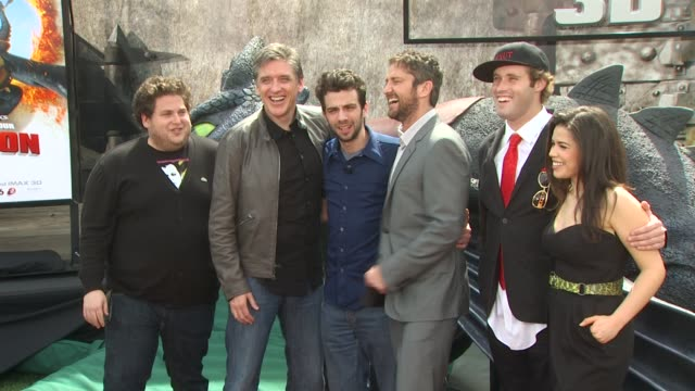 Jonah Hill Craig Ferguson Jay Baruchel Gerard Butler TJ Miller America Ferrera at the 'How To Train Your Dragon' Premiere at Universal City CA