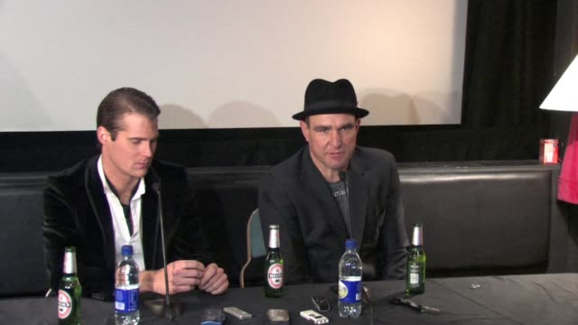 jonas altberg aka basshunter on his style of banter and humour at the celebrity big brother winner's press conference at borehamwood england - vinnie jones stock videos & royalty-free footage