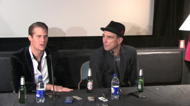 jonas altberg aka basshunter on why he went into the house at the celebrity big brother winner's press conference at borehamwood england - vinnie jones stock videos & royalty-free footage