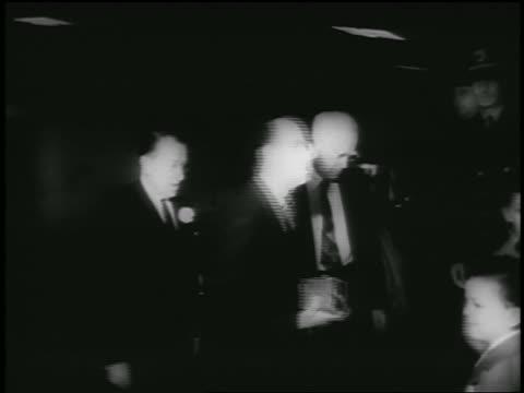 jonas salk + others walking thru doorway / newsreel - 1955 stock videos & royalty-free footage