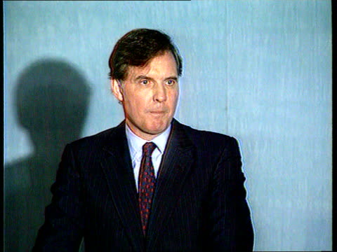 arrested; unsourced england: london ext former tory cabinet minister jonathan aitken along street lib 1995 smith square: conservative central office... - former stock videos & royalty-free footage