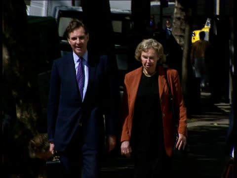 London High Court Jonathan Aitken arriving at court with his mother
