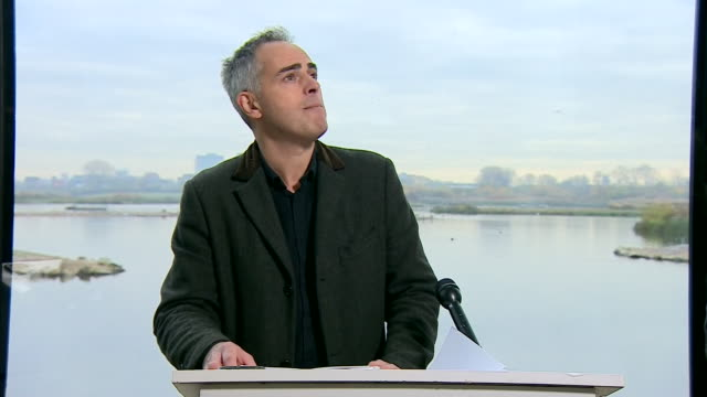 jonathan bartley saying the green party's manifesto is the most ambitious green new deal anywhere in the world - motivation stock videos & royalty-free footage