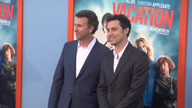 jonathan goldstein and john francis daley at the vacation los angeles premiere at regency village theatre on july 27 2015 in westwood california - regency village theater stock videos and b-roll footage