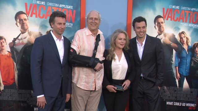 jonathan goldstein john francis daley chevy chase and beverly d'angelo at the vacation los angeles premiere at regency village theatre on july 27... - regency village theater stock videos and b-roll footage