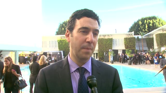 interview jonathan gordon on what the award season has been like at the 86th academy awards nominee luncheon interviews at the beverly hilton hotel... - the beverly hilton hotel stock videos & royalty-free footage