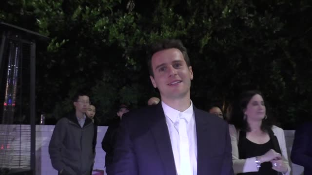 Jonathan Groff at the 2017 GQ Men Of The Year Dinner Party at Chateau Marmont in West Hollywood in Celebrity Sightings in Los Angeles