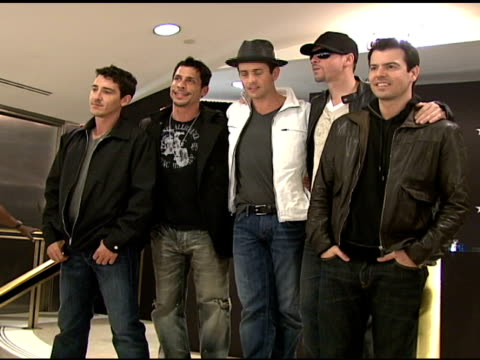 Jonathan Knight Danny Wood Joey McIntyre Donnie Wahlberg and Jordan Knight at the IZOD Macy's Presents New Kids On The Block at Macy's in New York...