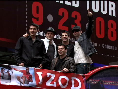 Jonathan Knight Joey McIntyre Danny Wood Donnie Wahlberg and Jordan Knight at the IZOD Macy's Presents New Kids On The Block at Macy's in New York...