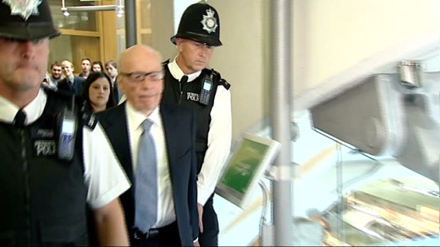 vídeos de stock, filmes e b-roll de jonathan maybowles sent to prison for foam pie attack on rupert murdoch 1972011 house of commons int rupert murdoch arriving for questioning by... - pie humano