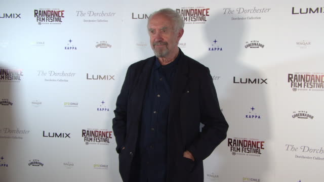jonathan pryce at raindance film festival - special soiree at the dorchester on august 22, 2018 in london, england. - ジョナサン・プライス点の映像素材/bロール