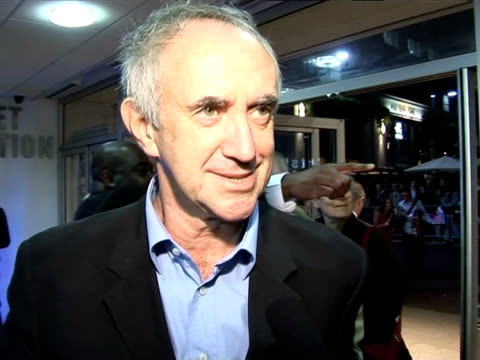 jonathan pryce on his character in the film at the the times bfi london film festival 2005 - the brothers grimm on october 31, 2005. - ジョナサン・プライス点の映像素材/bロール