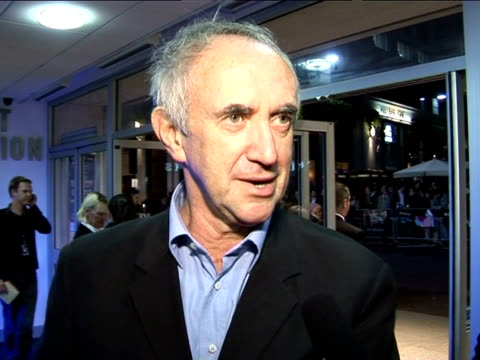 jonathan pryce on the filming schedule at the the times bfi london film festival 2005 - the brothers grimm on october 31, 2005. - ジョナサン・プライス点の映像素材/bロール
