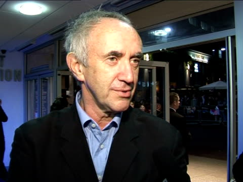 stockvideo's en b-roll-footage met jonathan pryce on working with terry gilliam at the the times bfi london film festival 2005 the brothers grimm on october 31 2005 - terry gilliam