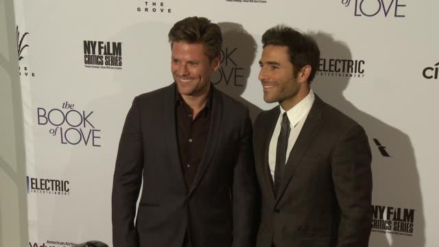 "jonathan rollo and joey gonzalez at ""the book of love"" los angeles premiere at pacific theatre at the grove on january 10, 2017 in los angeles,... - the grove los angeles stock videos & royalty-free footage"