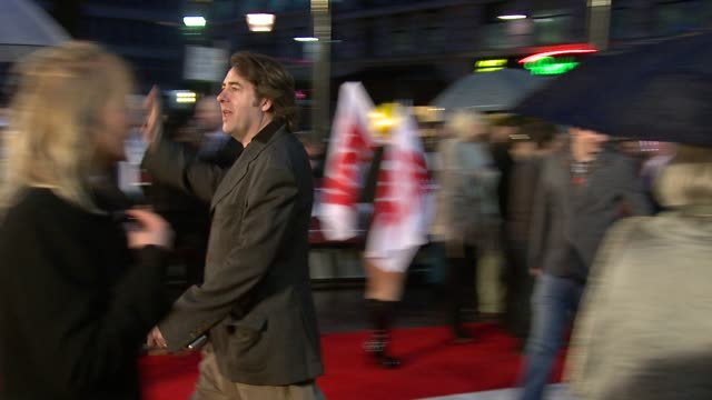 jonathan ross at the kickass uk premiere at london england - kick ass film title stock videos & royalty-free footage